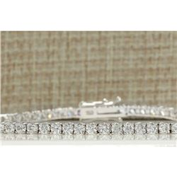 4.50 CTW Natural Diamond Bracelet In 18K Solid White Gold