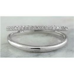 0.25 CTW 18K White Gold Diamond Ring