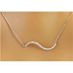 0.25 CTW Diamond 14K White Gold  Necklace