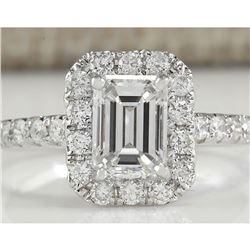 1.61 CTW Natural Diamond Ring In 18K White Gold