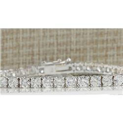 9.37 CTW Natural Diamond Bracelet In 14K White Gold