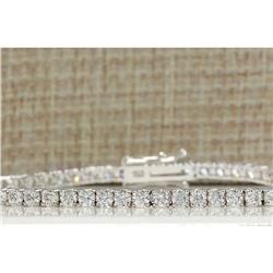 4.50 CTW Natural Diamond Bracelet In 14K Solid White Gold