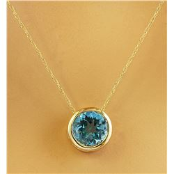 1.50 CTW Topaz 14K Yellow Gold Necklace