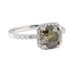 2.42 ctw Diamond Ring - 18KT White Gold