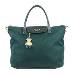 Prada Bag Tessuto Green Nylon Tote