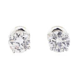 2.14 ctw Diamond Earrings - 14KT White Gold