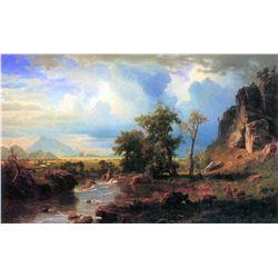 Northern Fork of the Plate, Nebraska by Albert Bierstadt