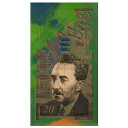 Israel Money by Steve Kaufman (1960-2010)