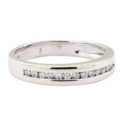 0.25 ctw Diamond Straight Line Band - 14KT White Gold