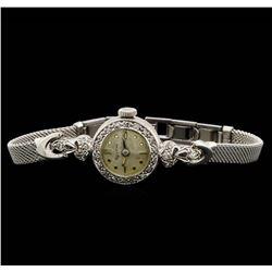 Bulova 14KT and 10KT White Gold 0.22 ctw Diamond Ladies Watch