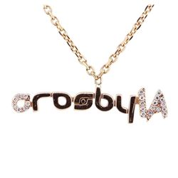 "0.10 ctw Diamond ""crosbyLA"" Pendant with Chain - 14KT Rose Gold"