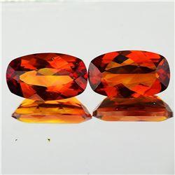 Natural Rare Madeira Orange Citrine Pair[Flawless-VVS]