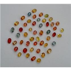 Fancy Multi Color Oval & Pear Sapphire 10 cts plus