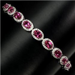 Natural 6x4mm AAA Pink Topaz Bracelet