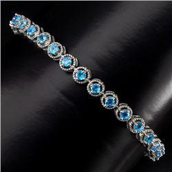 Natural  Aaa Neon Blue Apatite Bracelet
