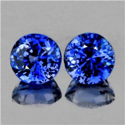 Natural AAA Royal Blue Rare Benitoite Pair - Flawless