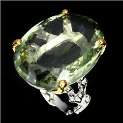 Natural Green Tea Amethyst 33 Carats Ring