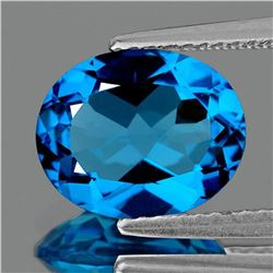 NATURAL BRILLIANT SWISS BLUE TOPAZ [FLAWLESS]