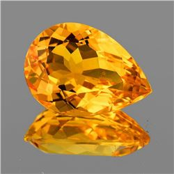 Natural Golden Orange Citrine 16.5x12 MM [Flawless-VVS]
