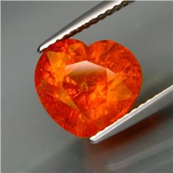 Natural Fanta Orange Spessartite Garnet Heart