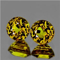 Natural AAA Yellow Mali Garnet Pair 5.50 MM - Flawless