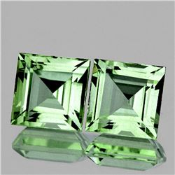 Natural Green Tea Princess Amethyst Pair 12 MM - FL