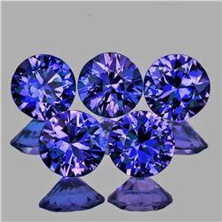 Natural Violet Blue Sapphire 3.30 MM 5 Pcs - Untreated