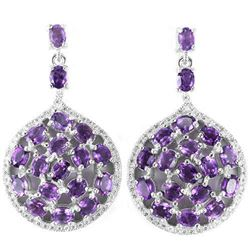 NATURAL AAA PURPLE AMETHYST Earrings