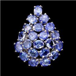 Natural Blue Tanzanite 37.48 Cts Ring