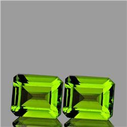 Natural AAA Green Peridot Pair {Flawless-VVS1}
