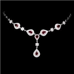 Genuine Stunning Pear Red Ruby 7x5 MM Necklace