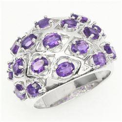 Natural Intense Purple Amethyst Ring