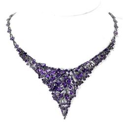 NATURAL AAA PURPLE AMETHYST 198 Ct Necklace