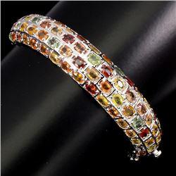 Natural Top Fancy Colors Sapphire 117.87 Ct Bangle
