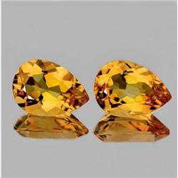NATURAL GOLDEN ORANGE CITRINE Pair 15x10 MM - FL