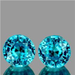 NATURAL AAA BLUE ZIRCON PAIR - FLAWLESS