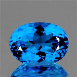 NATURAL AAA SWISS BLUE TOPAZ 14x10 MM - Flawless