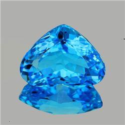 Natural AAA Swiss Blue Topaz Heart 16x13 MM - Flawless