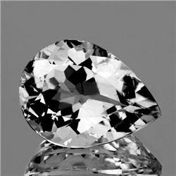 Natural Diamond White Aquamarine 9x6 MM - FL