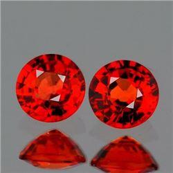 Natural Red Orange Sapphire Pair {Flawless-VVS1}