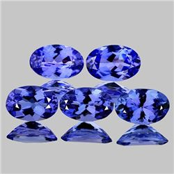 Natural Fire Purple Blue Tanzanite 5 Pcs - Flawless