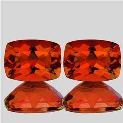 Natural Rare Madeira Orange Citrine Pair 7x5 MM - FL