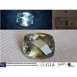 Green/Blue Metallic Sapphire, unheated, GIA 2.46 ct