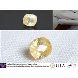 Yellow/Gold Metallic Sapphire, unheated 1.90 ct