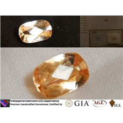 Orange Sapphire, unheated, premium cut | AGL 1.38 ct