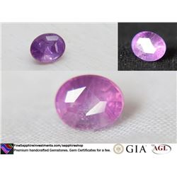 Vivid Violet/Pink Sapphire, premium handcrafted 1.13 ct