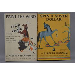BOOKS PAINT THE WIND AND SPIN A SILVER DOLLAR (ALBERTYA HANNUM)