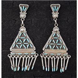 ZUNI INDIAN EARRINGS (KEVIN LEE KITY)