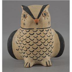 COCHITI INDIAN POTTERY OWL