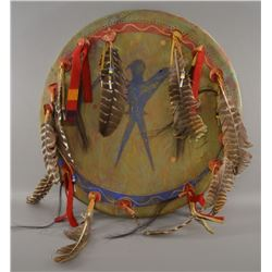 SIOUX INDIAN DANCE SHIELD (WOUNDED SWALLOW)